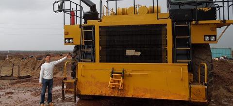 DSCN1820-Lomanosov鉱山のトラック